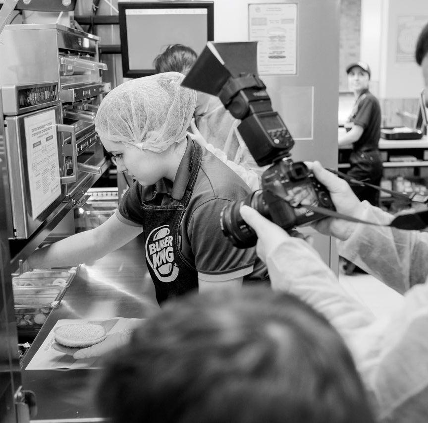 Пресс-конференция Burger King по случаю открытия первого регионального ресторана в Гродно